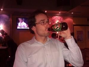 Et pour célébrer ... une bière australienne au bar du coin !
