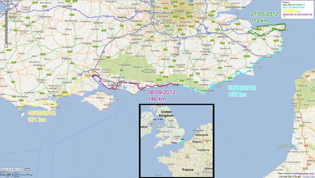 tracé routes GPS 2012